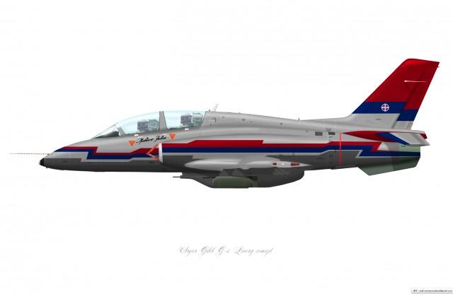 Super Galeb G-4 Livery concept3 (left)