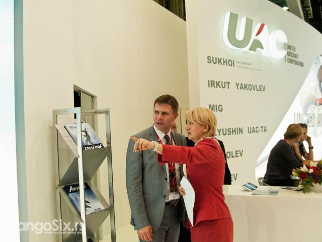 Državni sekretar Nikolić i predstavnica kompanije MiG