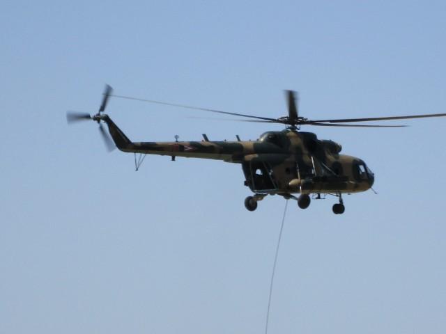 Mi-17 u toku vežbe