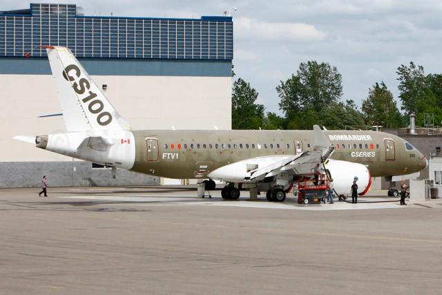 Bombardier CS100 FTV1 (C-FBCS)(Grd) YMX (GBH)(46)-L