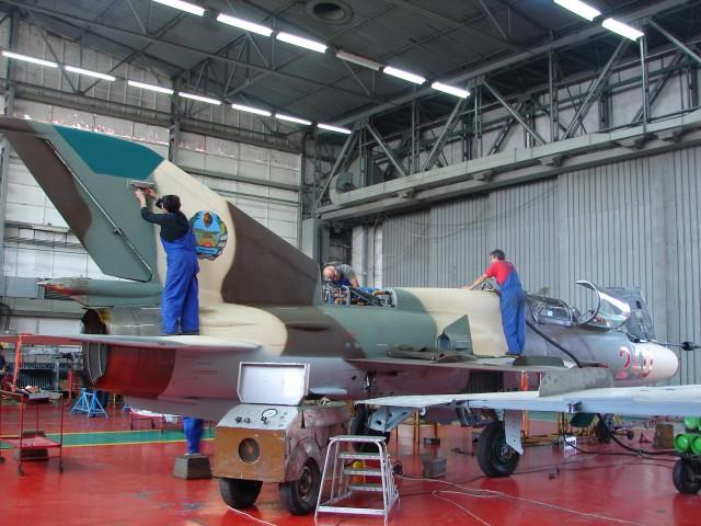 Završni radovi na MiG-u 21 RV Mozambika, Bakau