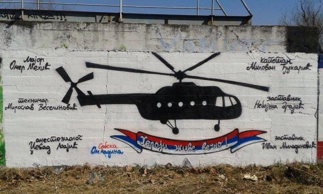 Grafit na zemunskom keju posvećen stradaloj posadi i njihovim putnicima