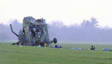 Olupina helikoptera Mi-17 u kojem je stradalo sedmoro ljudi.