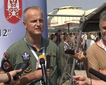 Beograd, Omer Mehic major, 890 mesovita helikopterska eskadrila, o ucescu na aeromitingu i najatraktivnijem nastupu