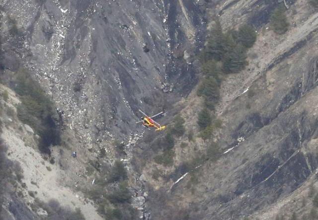 Mesto pada nemačkog aviona u francuskim Alpima.