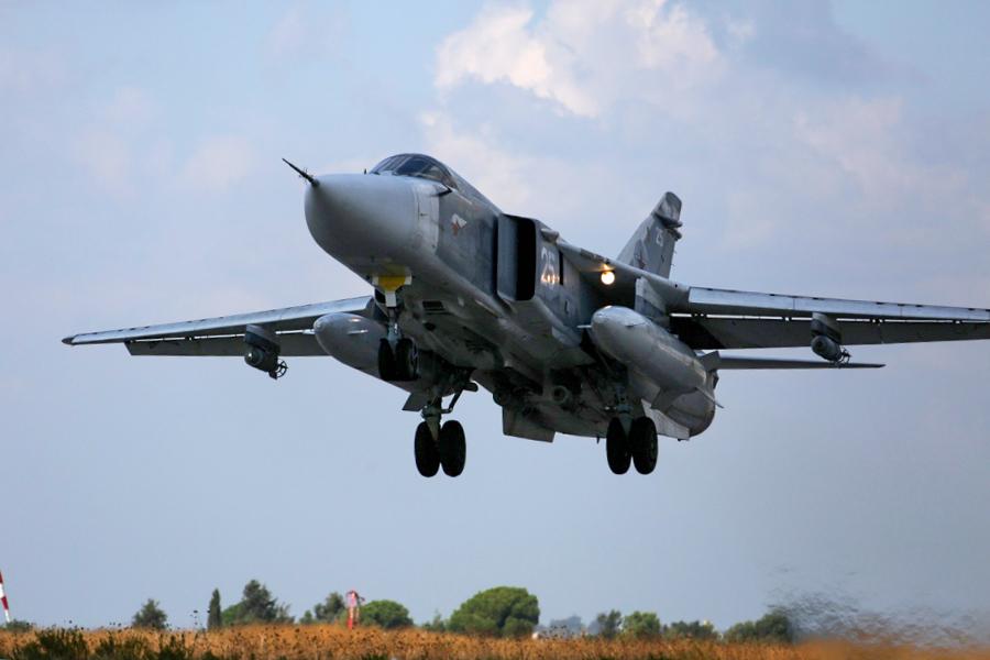 Uprkos relativnoj zastarelosti, Su-24M je u dosadašnjim dejstvima bio izuzetno koristan / Foto: Rusko MO
