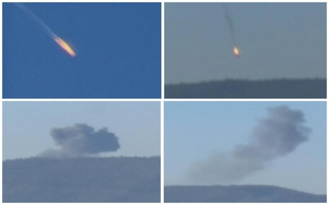 Kolaž fotografija nastalih po obaranju ruske letelice na granici Turske i Sirije / Foto: Rojters