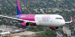 Wizz Air A321 nisko iznad centra Budimpešte