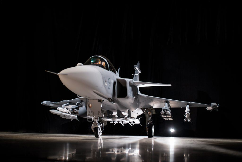 Saab+proudly+presenting+Gripen+E