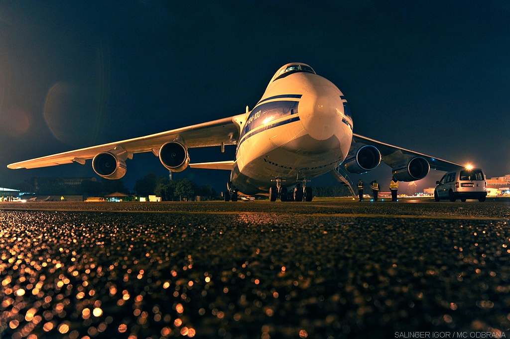 An-124 po sletanju na Teslu / Foto: Igor Salinger