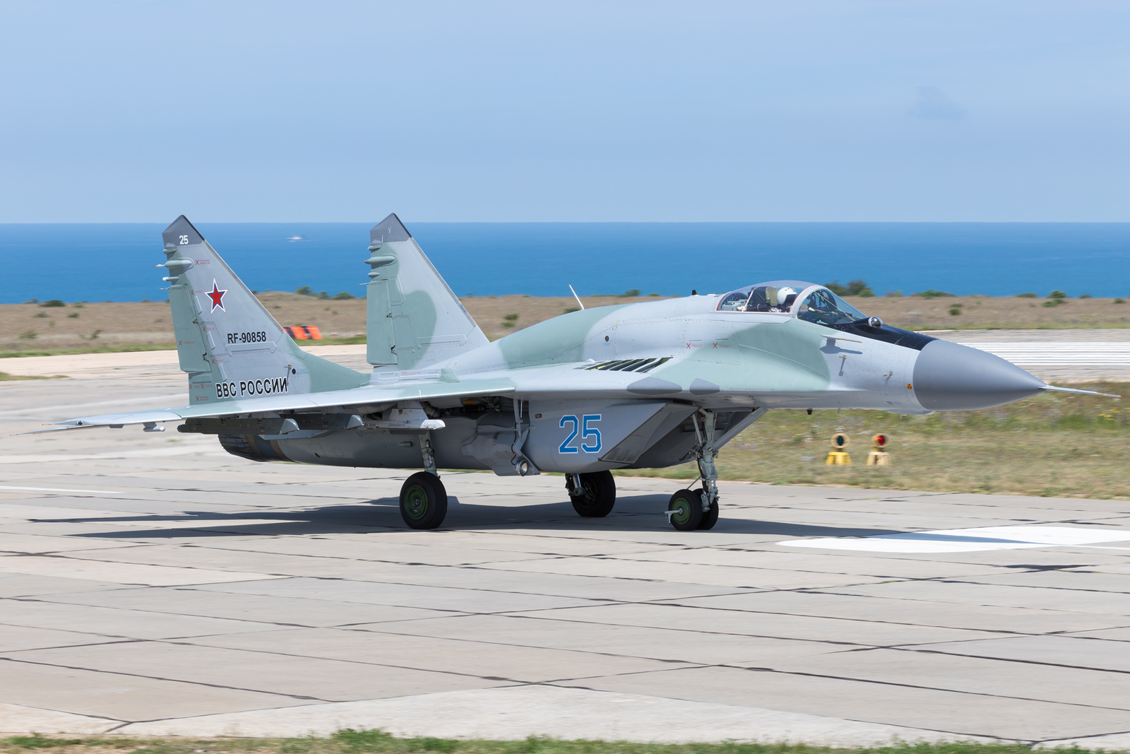 ruski MiG-29SMTR 25 plavi Belbek Krim