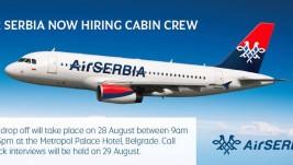 Air Serbija objavila konkurs za zapošljavanje kabinskog osoblja – intervjui 29. avgusta