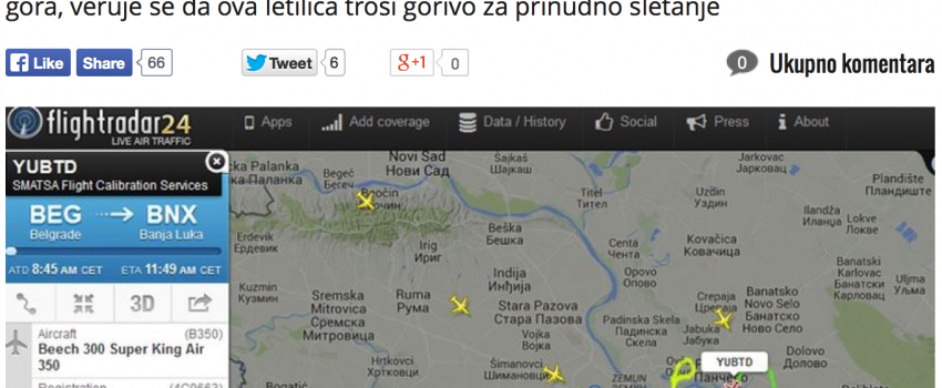Crnogorski reper i društvene mreže krivi za jučerašnju dramu u vazduhu iznad Beograda