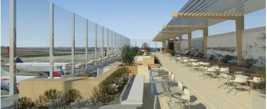 """EKSKLUZIVNO: Ovako će izgledati obnovljen Terminal 1 i novi vidikovac na krovu Aerodroma """"Nikola Tesla"""""""