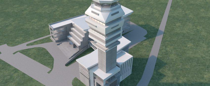 """Prve detaljnije ilustracije izgleda novog kontrolong tornja na """"Nikoli Tesli"""""""