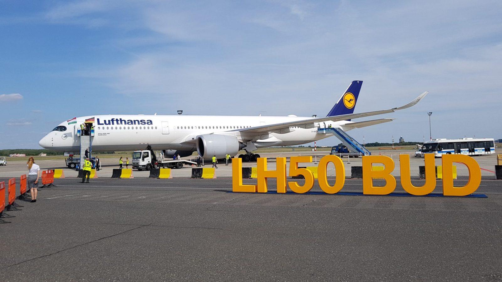 [VIDEO REPORTAŽA] 50 godina leta Lufthanse sa Budimpeštu i 50 sekundi zabave u A350-900