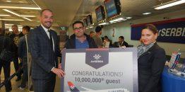 Er Srbija za manje od četiri godine opslužila 10 miliona putnika