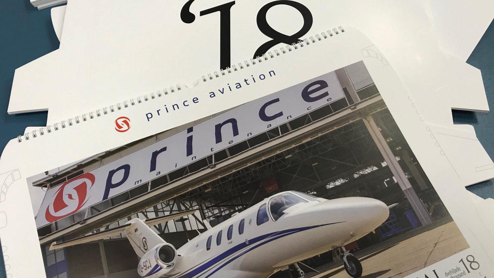 Tango Six deli kalendare za 2018. godinu – Prince Aviation