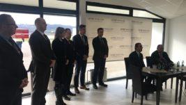 """Predstavnici """"Nikole Tesle"""" u poseti banjalučkom aerodromu; Proširivanje saradnje sa tehničkog na komercijalni nivo"""