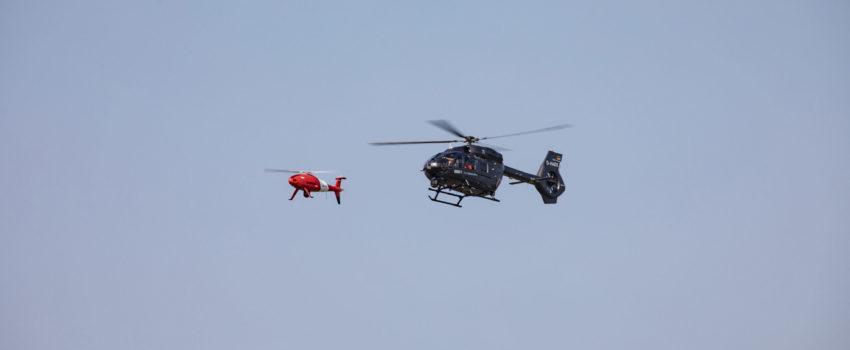 [ILA 2018] Erbas Helikopters i Šibel uspešno demonstrirali kontrolu bespilotne letelice iz helikoptera H145M