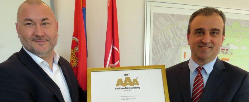 """""""Nikola Tesla"""" dobitnik zlatnog AAA sertifikata za izvrsnost u poslovanju"""