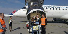 Montenegro erlajns dočekao svog petstohiljaditog putnika u 2018. godini