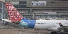 "[POSLEDNJA VEST] Er Srbijin A330 dobio novu šemu bojenja – reklamu ""Serbia Creates"" Vlade Srbije"