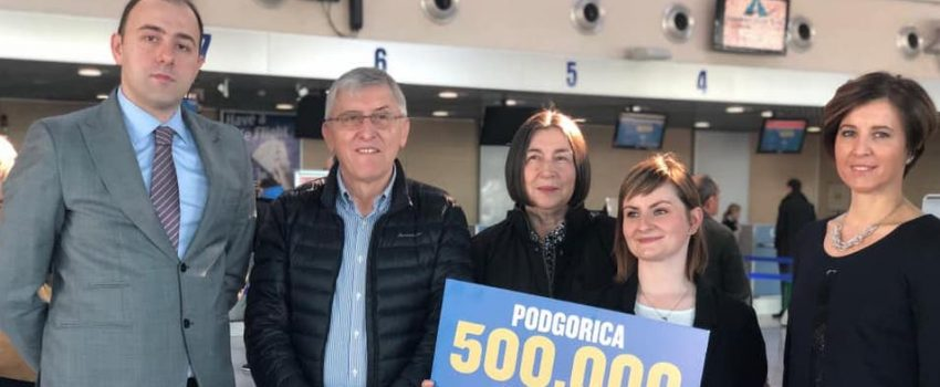 Rajaner proslavio 500 hiljada opsluženih putnika na Aerodromu Podgorica