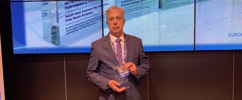 """SMATSA dobitnik nagrade """"Jedinstveno evropsko nebo 2019"""" za projekat uspostavljanja zajedničkog vazdušnog prostora jugoistočne Evrope"""