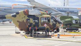 [EKSKLUZIVNO] Prve fotografije srpskog H145M na Buržeu, izložen sa domaćim naoružanjem