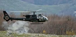 Udes helikoptera Gazela Vojske Srbije, posada lakše povređena