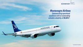 Embraer: Montenegro Airlines je u samom svetskom vrhu po operativnim performansama naših aviona