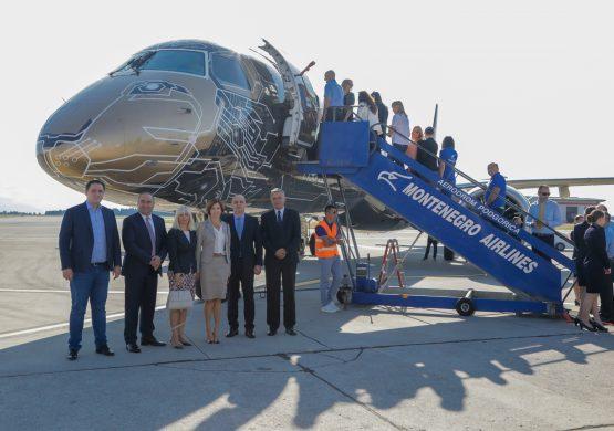 Embraer prikazao svoj novi E195-E2 Montenegru i Er Srbiji