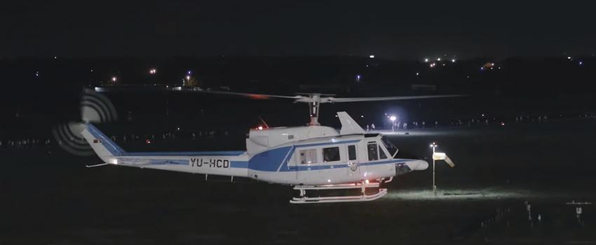 """[VIDEO] Aerodrom """"Nikola Tesla"""" je dosadan – osim kada po njegovoj pisti trče noću uz pratnju MUP-ovih helikoptera"""