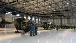 Obilazak novog hangara na vojnom delu aerodroma u Nišu