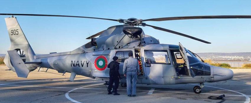 Bugarska Mornarica dobila helikopter AS365 N3+ Dauphin