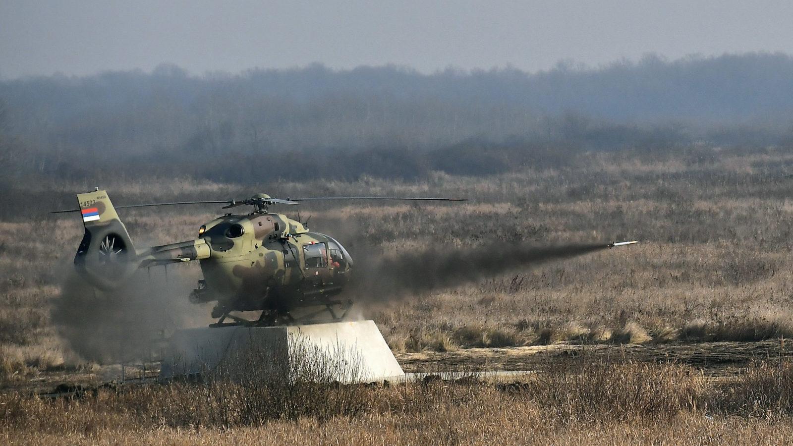 Nikinci: Iz helikoptera H145M izvršeno gađanje domaćim naoružanjem