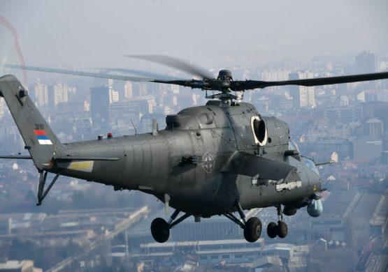 Pripadnici RV i PVO se obučavaju na desantno-jurišnim helikopterima Mi-35M
