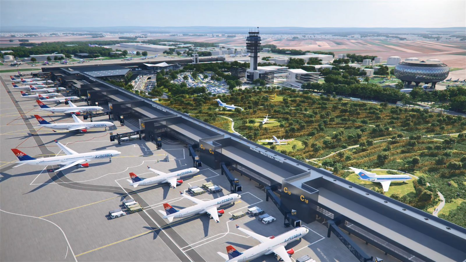 "[POSLEDNJA VEST] Prve fotografije novog izgleda aerodroma ""Nikola Tesla"""