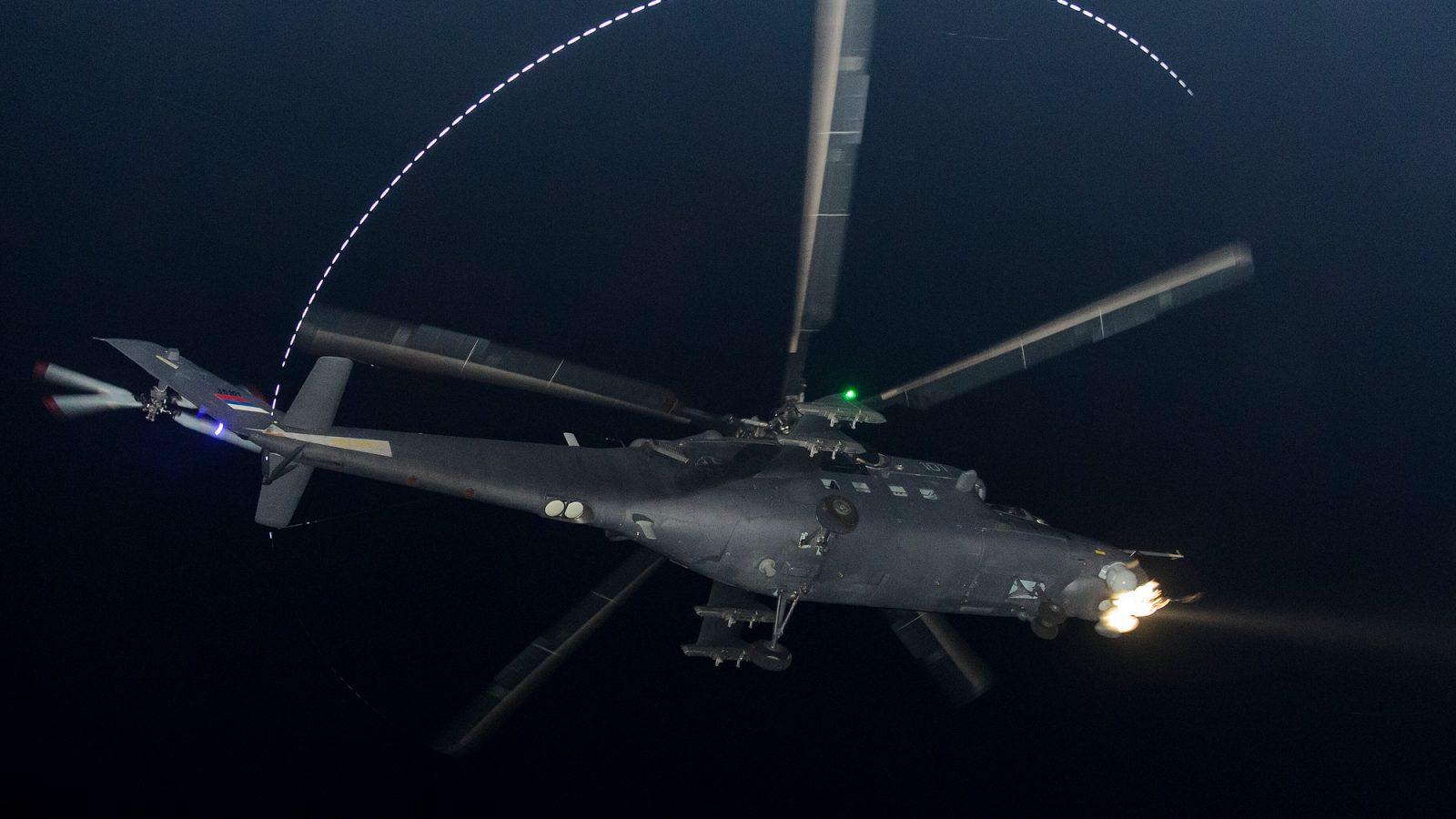 """Senke"" na obuci za letenje noću na helikopterima Mi-35M"