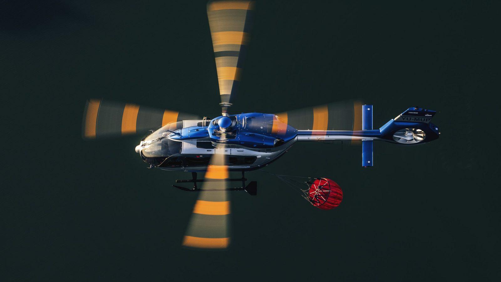 Helikopterska jedinica MUP-a Srbije gasi požare u Severnoj Makedoniji
